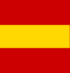 flag of spain in national colors and proportions vector image