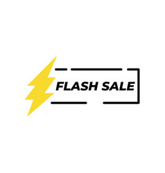 flash sale banner icon design template isolated vector image