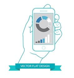 Flat countour design vector
