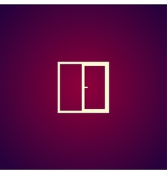 Flat Window icon vector image