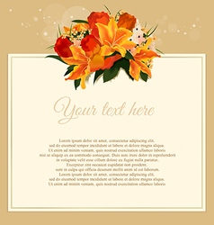 flowers greeting cards vector image
