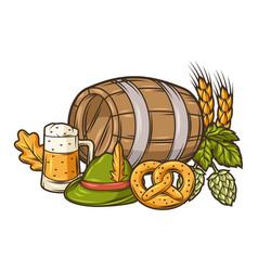 For beer festival or oktoberfest vector
