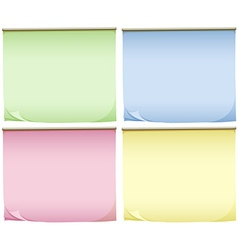 Four pads of colourful papers vector image