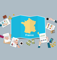 france economy country growth nation team discuss vector image