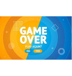 game over or play again concept banner card vector image
