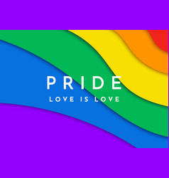 gay pride banner paper cut rainbow spectrum flag vector image