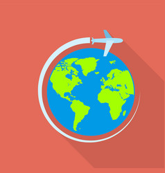 global airway icon flat style vector image