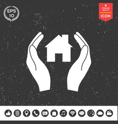 hands holding home vector image