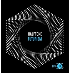 Hexagon Futuristic technology halftone design vector