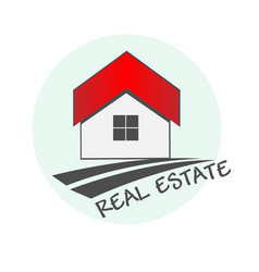 house real estate logo design vector image
