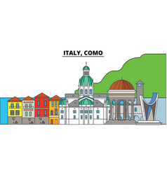 italy como city skyline architecture buildings vector image