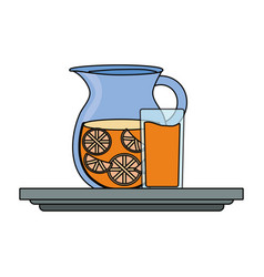 juice pitcher icon image vector image