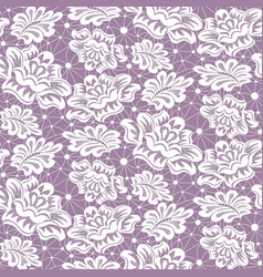 Lace with roses vector