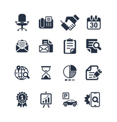 Media and office icons set vector