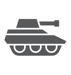 military tank glyph icon war and army vehicle vector image