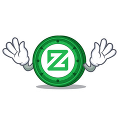 Mocking zcoin mascot cartoon style vector