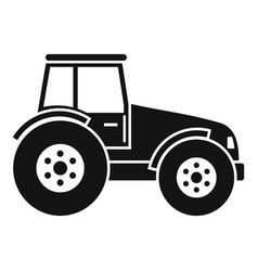 modern tractor icon simple style vector image