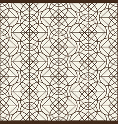 monochromatic grid seamless pattern vector image