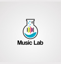 music lab logo icon element and template vector image