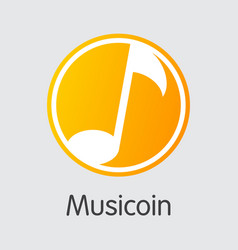 Musicoin cryptographic currency - icon vector