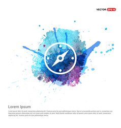 Navigation compass icon - watercolor background vector
