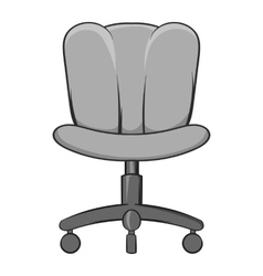 Office chair icon black monochrome style vector image