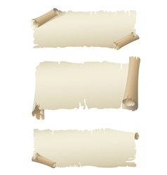 old paper banners vector image