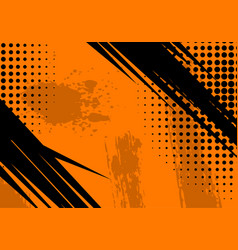orange grunge background and texture vector image