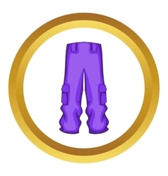 Pants snowboard clothes icon vector image