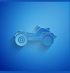 Paper cut all terrain vehicle or atv motorcycle vector