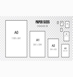 Paper size size of international a series vector