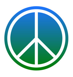 peace sign white icon in vector image