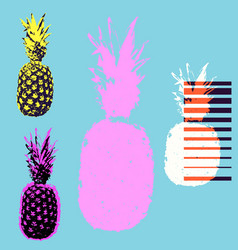 Pineapple tshirt vector
