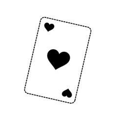poker cards design vector image