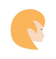 profile woman romantic image vector image