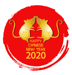 rat is a symbol 2020 chinese new year vector image