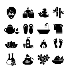 Set of icons for Spa vector