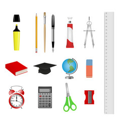 set school supplies vector image