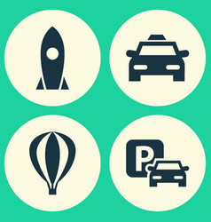 Shipment icons set collection of spaceship vector
