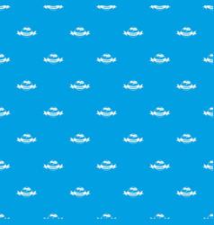 sleeping bedroom pattern seamless blue vector image