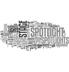 Spotlight word cloud concept vector