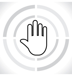 stop icon hand vector image