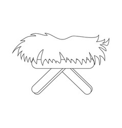 Straw cradle isolated vector