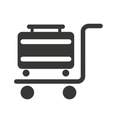 suitcase in cart isolated icon design vector image