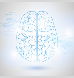 technology low poly design human brain vector image