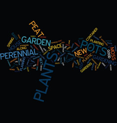 The portable perennial garden text background vector
