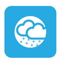 Thin line snow rain icon vector