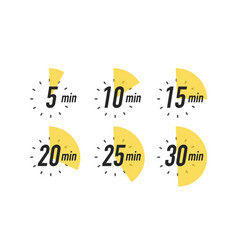 Timer icon set isolated on white background vector