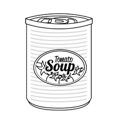 Tomato soap canned isolated icon vector