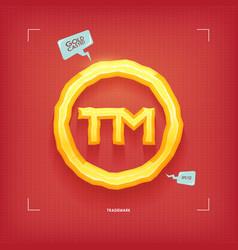 trademark symbol golden jewel typeface element vector image